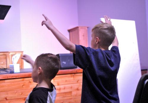 Children worship and pray with us at Monday Night Prayer